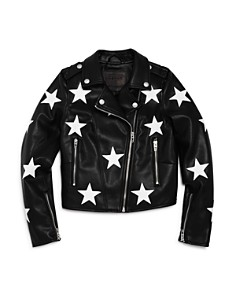 BLANKNYC - Girls' Vegan-Leather Star-Patch Moto Jacket - Big Kid