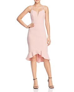 Bardot - Kristen Ruffled-Hem Midi Dress