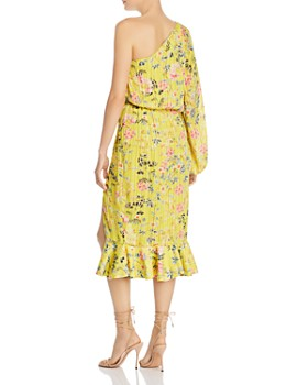 Hemant and Nandita - One-Shoulder Floral Blouson Dress