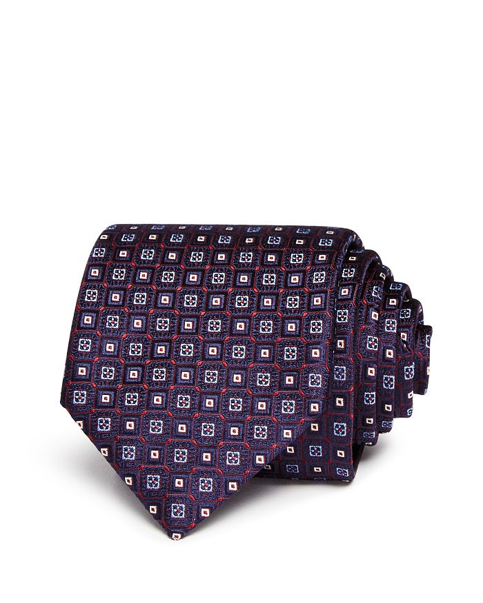 Canali - Neat Squares Silk Classic Tie - 100% Exclusive