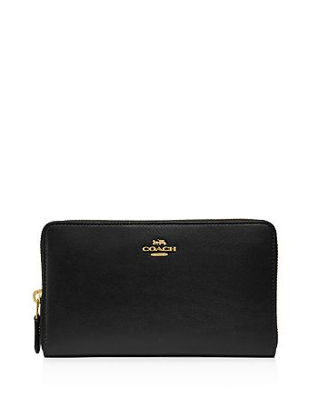 COACH - Continental Leather Zip Wallet