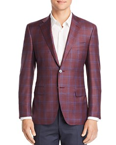 Canali - Siena Plaid Classic Fit Sport Coat - 100% Exclusive