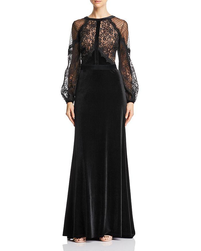 Tadashi Shoji - Lace & Velvet Gown