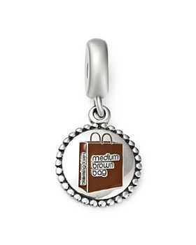 PANDORA - Bloomingdale's Medium Brown Bag Charm - 100% Exclusive ...