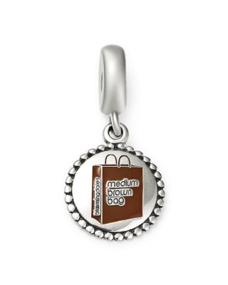 Bloomingdale's Medium Brown Bag Charm   100 Percents Exclusive by Pandora