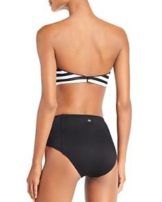 kate spade new york - Stripe Bandeau Bikini Top & High Waist Bikini Bottom