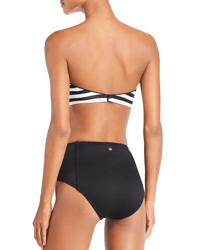 e3e4f4d6fa9cd kate spade new york - Stripe Bandeau Bikini Top & High Waist Bikini Bottom