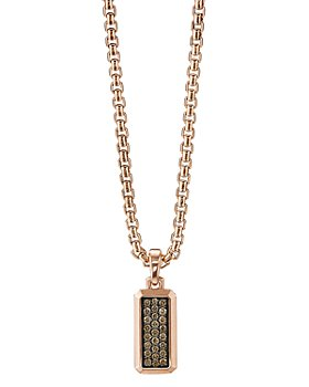David Yurman - Streamline® Amulet in 18K Rose Gold with Cognac Diamonds