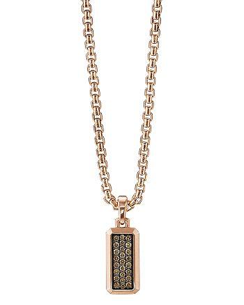David Yurman - Streamline® Amulet in 18K Rose Gold with Cognac Diamonds