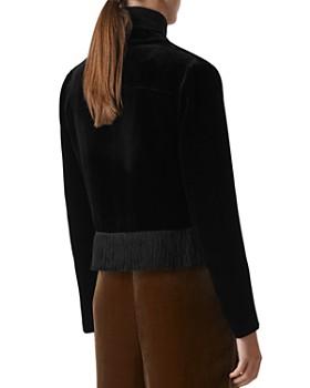 Whistles - Camilla Fringe-Trimmed Velvet Jacket