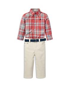 Ralph Lauren - Boys' Plaid Shirt, Jeans & Belt Set - Baby