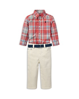 Ralph Lauren - Boys' Plaid Shirt, Jeans & Belt Set - Baby