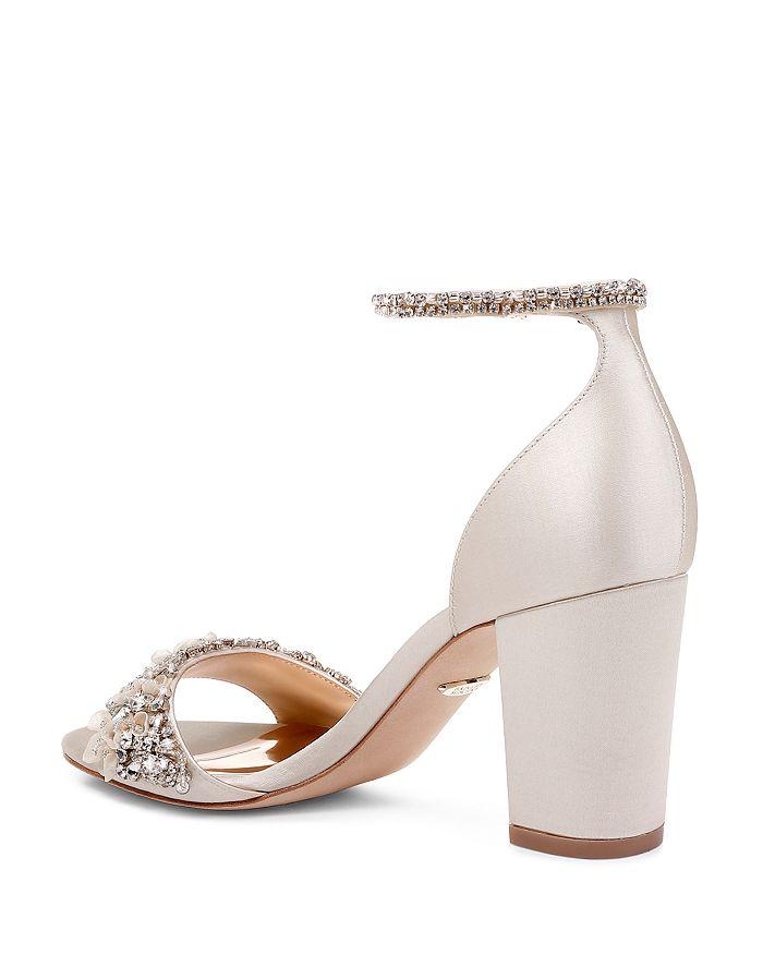 55ed34a26e2 Badgley Mischka Women s Finesse Embellished Block Heel Sandals ...