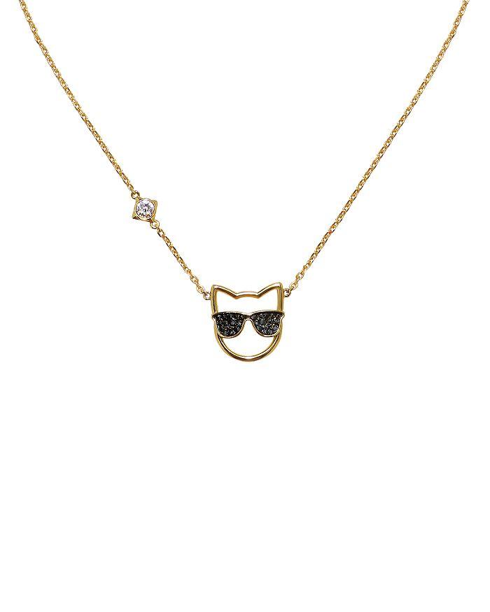 """KARL LAGERFELD Paris - Sunglasses Choupette Necklace, 16"""""""