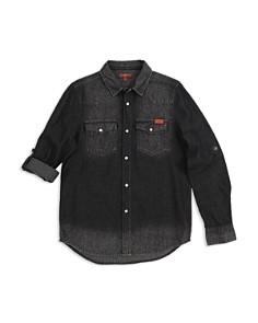 7 For All Mankind - Boys' Western Denim Shirt - Big Kid