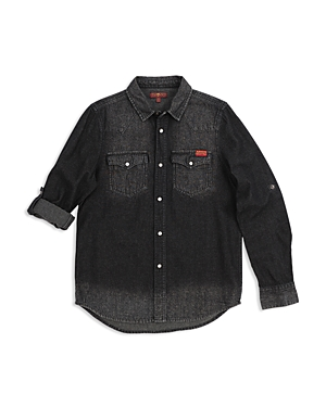 7 For All Mankind Boys Western Denim Shirt  Big Kid