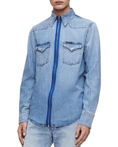 Calvin Klein Jeans - Foundation Zip-Front Regular Fit Denim Western Shirt