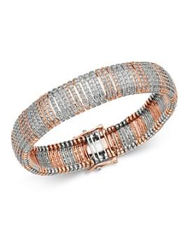 Bloomingdale's - Pavé Diamond Bracelet in 14K White & Rose Gold - 100% Exclusive