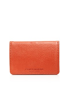 Campo Marzio - Pebbled Faux Leather Business Card Holder