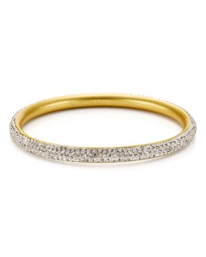 Razzle Dazzle Bangle in Clear/Worn Gold from Kate Spade