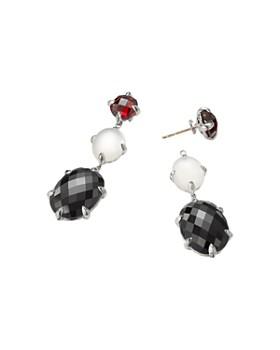 David Yurman - Chatelaine Drop Earrings with Black Onyx, Milky Quartz over Mother-of-Pearl & Garnet