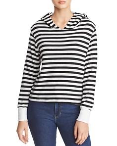 LNA - Cameron Brushed Striped Hooded Sweatshirt