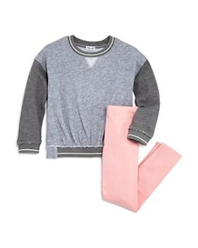 Splendid - Girls' Contrast French Terry Sweatshirt & Leggings Set - Little Kid