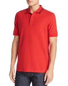 HUGO - Dewayne Logo-Patterned Collar Polo Shirt