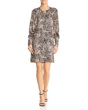 Rebecca Taylor Leopard Print Silk Dress