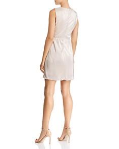 WAYF - Lattice-Detail Metallic Mini Dress - 100% Exclusive