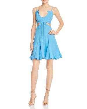 A MERE CO. Flora Cutout Dress in Bright Blue