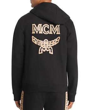MCM - Back Metallic-Trimmed Logo Appliqué Hoodie
