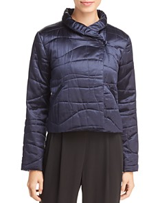 Eileen Fisher - Silk Cropped Puffer Jacket - 100% Exclusive