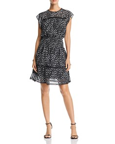 AQUA - Tiered Animal Print Dress - 100% Exclusive