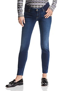 7 For All Mankind - Maternity Ankle Skinny Jeans in Medium Blue