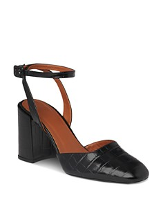 Whistles - Women's Crescent Block Heel Mary Jane Pumps