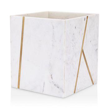 Kassatex - Marble Brass Wastebasket