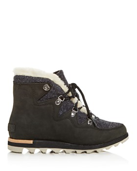 f3ec377094c24 ... Sorel - Women s Sneakchic Alpine Holiday Shearling Waterproof  Cold-Weather Boots
