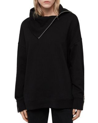 Bella Zip Detail Sweatshirt by Allsaints