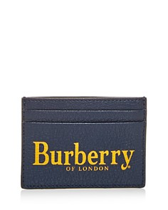 Burberry - Sandon Crest Print Leather Card Case