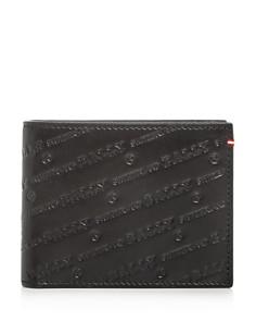 Bally - Embossed Leather Bi-Fold Wallet