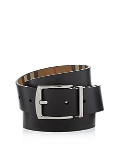 Burberry - Clark Vintage Check Leather Reversible Belt