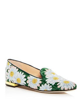 Charlotte Olympia - Women's Fabri Floral-Embroidered Smoking Slippers