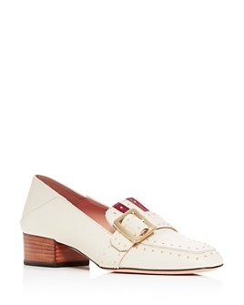 Bally - Women's Janelle Studded Block-Heel Loafers