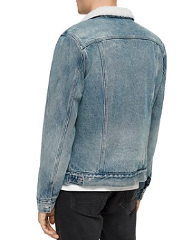 ALLSAINTS - Interbay Denim Jacket with Faux-Shearling Collar