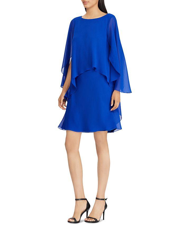8f66fd047eb35 Ralph Lauren Chiffon Overlay Dress | Bloomingdale's
