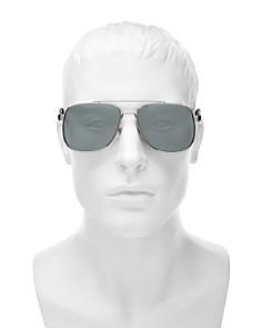 Gucci - Men's Mirrored Brow Bar Aviator Sunglasses, 64mm