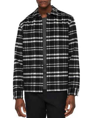 Racine Checked Slim Fit Button Down Shirt by Allsaints