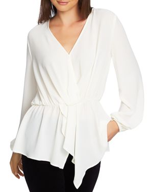 1.state Crossover Peplum Blouse