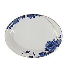 "Prouna - Emperor Flower Oval Platter, 16"""